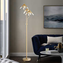 Modern Standing Lamp Loft Dining Room Reading Lampshade Deco Salon Metal Floor Lamps for Living Study Art