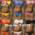 Atacado Mais Novo Sensuais de Biquíni Mulheres Verão Swimwear Occidental Secret Beach Swimsuit 10 Cores S M L # OL054
