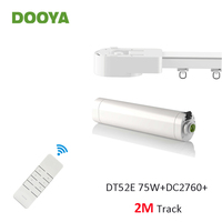 Dooya Super Silent Curtain Rails System, DT52E 75W+2M or Less Track+DC2760, RF433 Remote Controller,work with Broadlink Rm pro