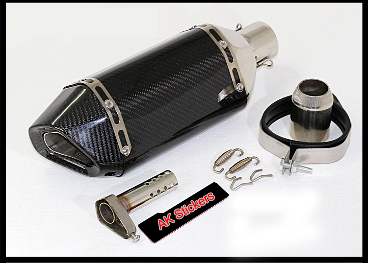 Universal Modified Motorcycle Carbon Fiber Exhaust Pipe Back Pressure High Temperature Resistant Stainless-s Muffler cbr600f
