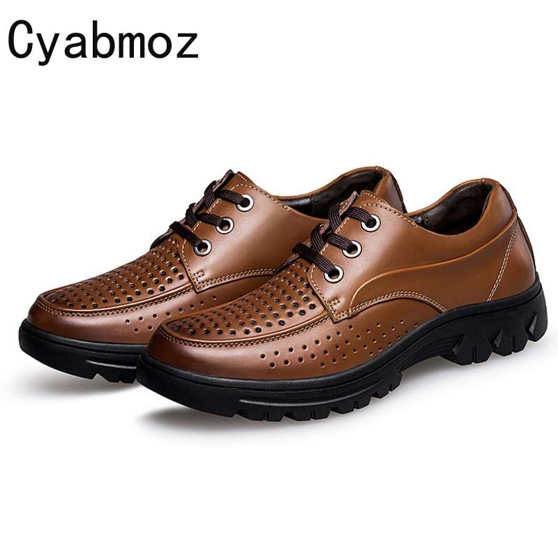2018 Cyabmoz Brand Summer Luxury Men Casual Shoes Fashion Lace-up Breathable Hole Hollow Big Size 46 47 48 49 50 Zapatos Hombre fashion designer famous brand air mesh glossy men casual shoes summer outdoor breathable durable lace up unisex fashion shoes
