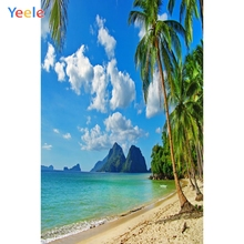 Yeele Seaside Beach Coconut Palm Tree Mountains Photography Backgrounds Personalized Photographic Backdrops For Photo Studio