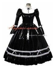New Arrival PVC VICTORIAN Black Dress Gothic Dress Halloween Costumes Custom Made
