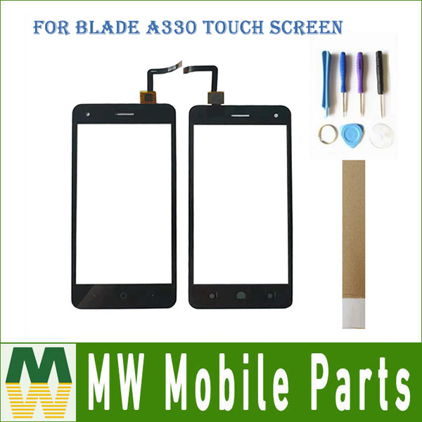 """High Quality 5.0""""for Zte Blade A330 Touch Screen Digitizer Front Glass Replacement Part Black Color With Tape"""