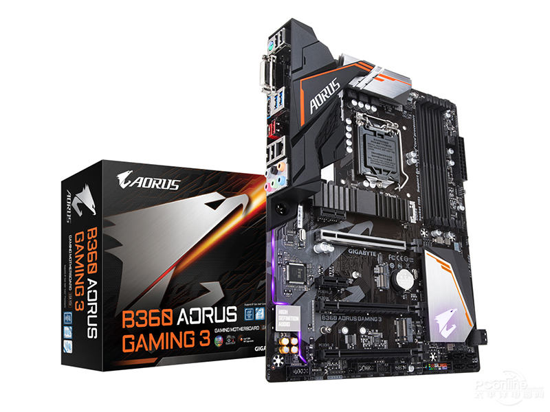 Desktop Motherboard New Gigabyte B360 AORUS GAMING 3 Original LGA 1151 DDR4  B360  Desktop  E-sports Game Computer Motherboards