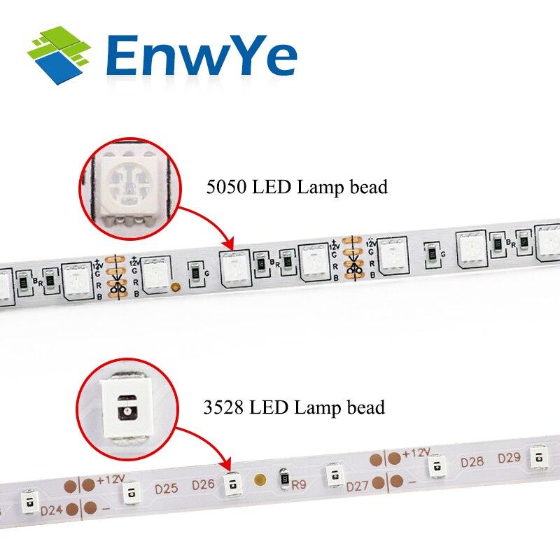 Hot sale 5M 300Leds Non-waterproof RGB Led Strip Light 3528 DC12V 60Leds/M Fiexble Light Led Ribbon Tape Home Decoration Lamp