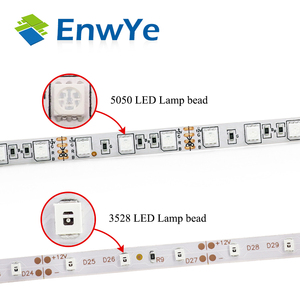 Image 3 - EnwYe 5M 300 נוריות waterproof RGB Led רצועת אור 3528 5050 DC12V 60 נוריות/M Fiexble אור Led סרט קלטת עיצוב הבית מנורה