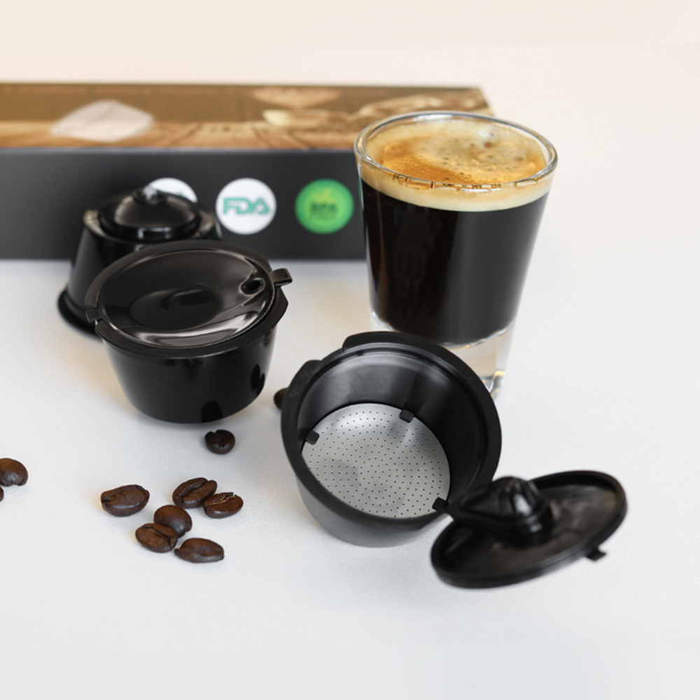 For Dolce Gusto Crema Coffee Capsule Filters Upgraded 3rd Generation Cup Refillable Reusable Dolci Gusto Dripper Tea Baskets