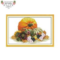 Joy Sunday J416 14CT 11CT Counted and Stamped Home Decor Pumpkin Needlework Needlepoint Embroidery DIY Cross Stitch kits