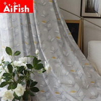 Nordic American Country Cotton Linen Tulle Curtains Fabric Semi Shading Curtain Cloth For Living Room Customization