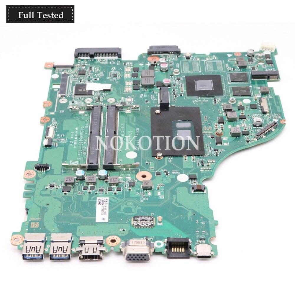 NOKOTION NBGG711005  For Acer Aspire E5-575 E5-575G Laptop Motherboard  DAZAAMB16E0 SR2ZU I5-7200U CPU GeForce 940MX graphicsNOKOTION NBGG711005  For Acer Aspire E5-575 E5-575G Laptop Motherboard  DAZAAMB16E0 SR2ZU I5-7200U CPU GeForce 940MX graphics