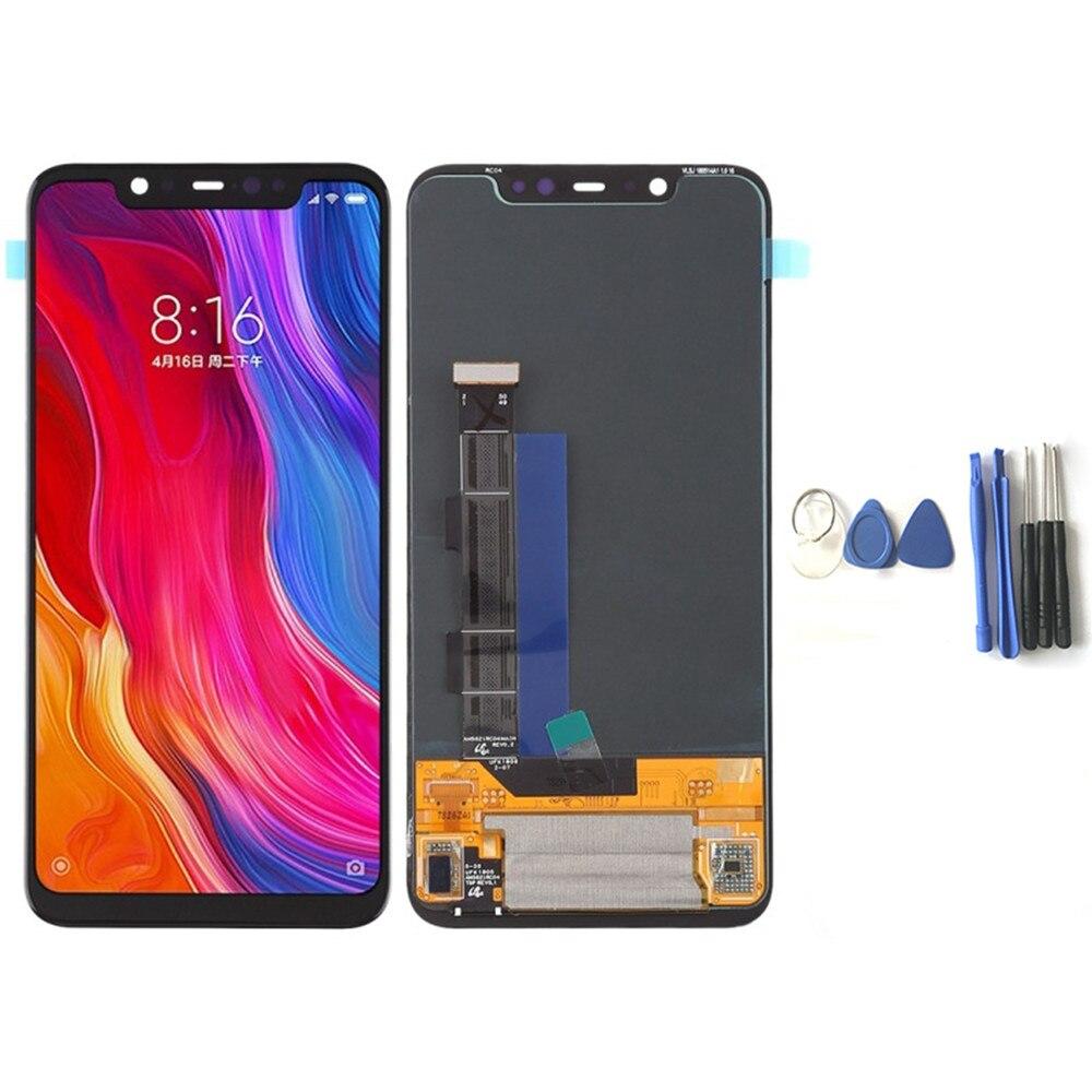 Для Xiaomi Mi 8 сменный ЖК дисплей + кодирующий преобразователь сенсорного экрана в сборе для мобильного телефона ЖК экран панель для Xiaomi Mi 8 с ин...