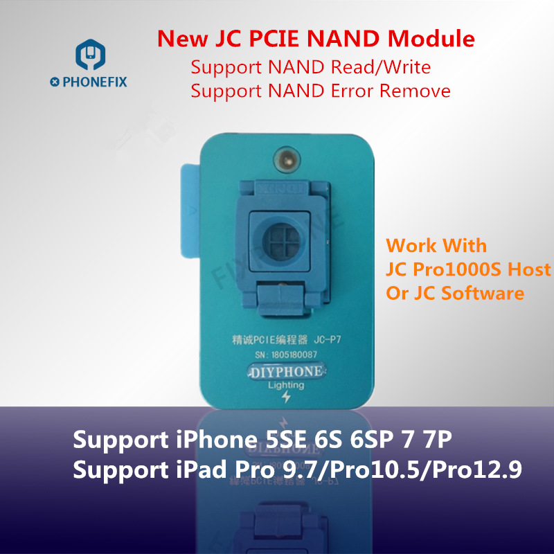 PHONEFIX New JC P7 PCIE NAND Test Fixture Underlying Error Repair NAND Programmer For IPhone 6S 6SP 7 7 Plus IPad Pro