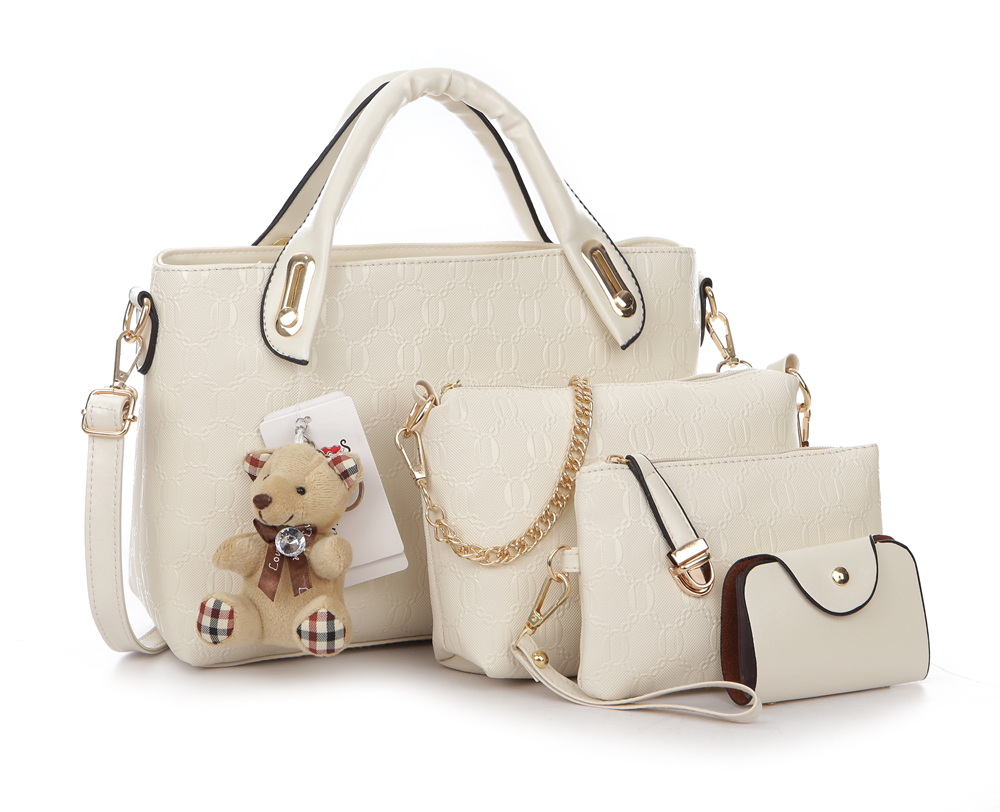 Famous Brand Women Bag Brand 2017 Fashion Women Messenger Bags Handbags Set PU Leather Female Bag 4 piece Set
