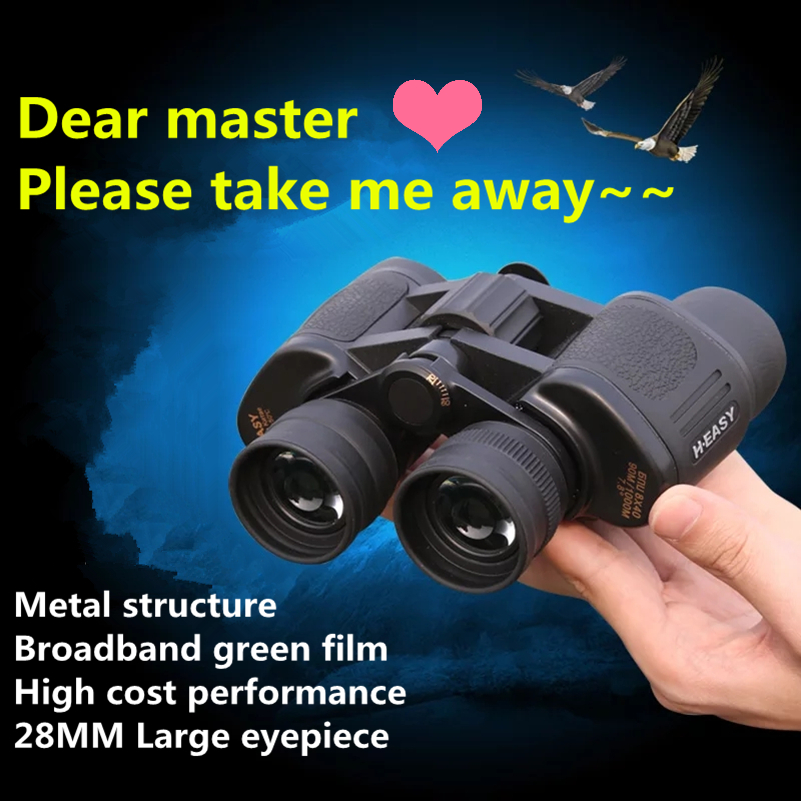 Professional binocular Large eyepiece hunting telescope wide angle travel binoculars lll night vision HD long range zoom in Monocular Binoculars from Sports Entertainment