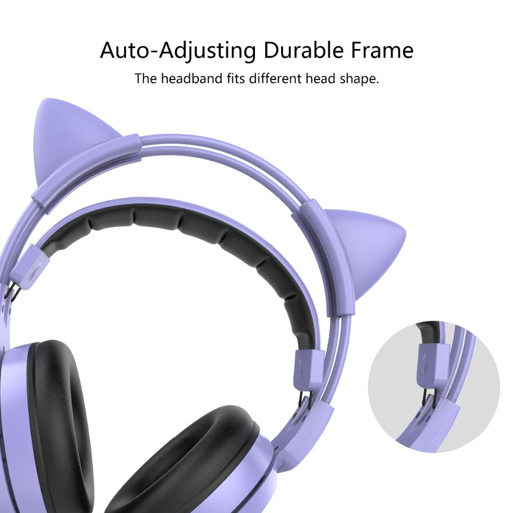 SOMIC G951 Purple Girl Cat Ear Gaming Headphone Chinese Characters