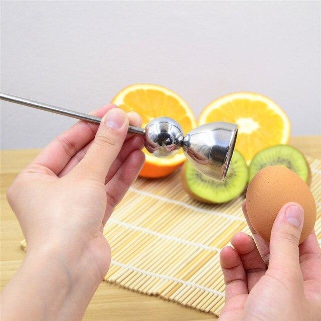 Egg Topper Cutter, Eggshell Cracker Opener, Stainless Steel Kitchen Tool for Soft Hard Boiled Eggs, Egg Shell Removing Opening  3