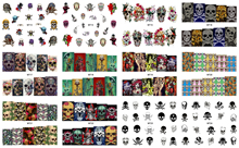 1 Sheet Nail MT19 Full Cover POP Beauty Girl Skull Fashion Nail Art Water Transfer Sticker Decal For Nail Tattoo Tips Nail Tools