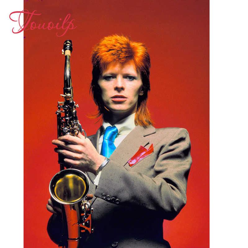 5D DIY Rock star David Bowie Diamant Malerei Kreuz Stich, männer, home Decor Stickerei malerei Voller Diamanten Mosaik aufkleber, geschenk