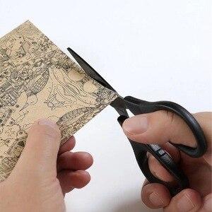 Image 3 - Huohou チタンメッキはさみ黒セット紙切断はさみミシン糸防錆剪定はさみ葉トリマーツールキット