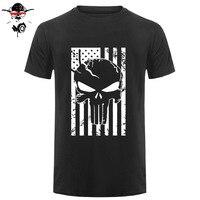 Amerikaanse Sniper Chris Kyle Mannen T-shirt Punisher Schedel Navy Seal Team Legend Gedrukt Mode Top Tee Zomer Casual Tshirt