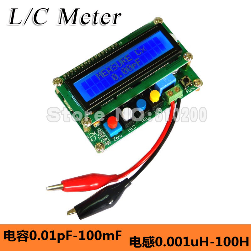 LC100-A Digital LCD High Precision AutoRange Inductance Capacitance Meter L/C meter Accuracy 1% 0.01pF-100mF