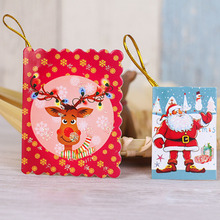 10Pcs/Set Merry Christmas Wish Card Greeting Card Sticker Ornament Pendant Christmas Tree Ornament Novelty Gifts