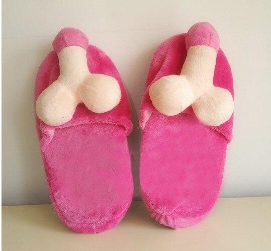 zapatillas en forma de pene