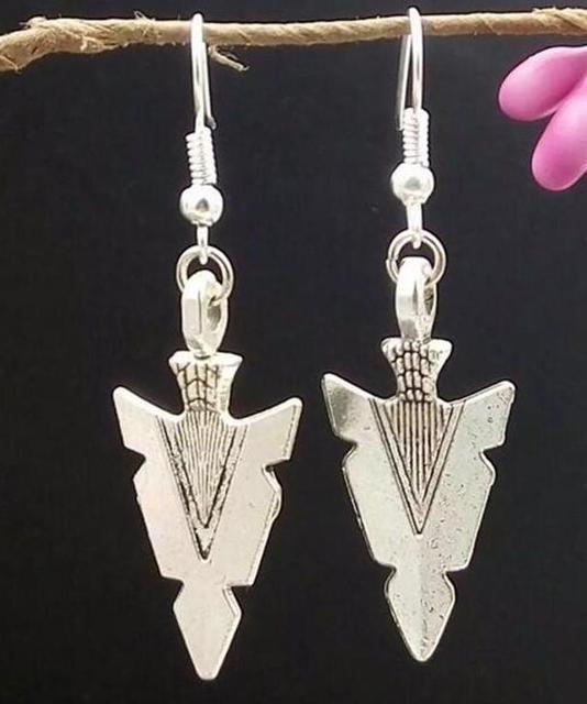 1Pair/Lot Fast delivery Triangle Arrow Head/Gun head Earring Charm Pendants Drape Earring DIY Fashion Women Jewelry Gifts