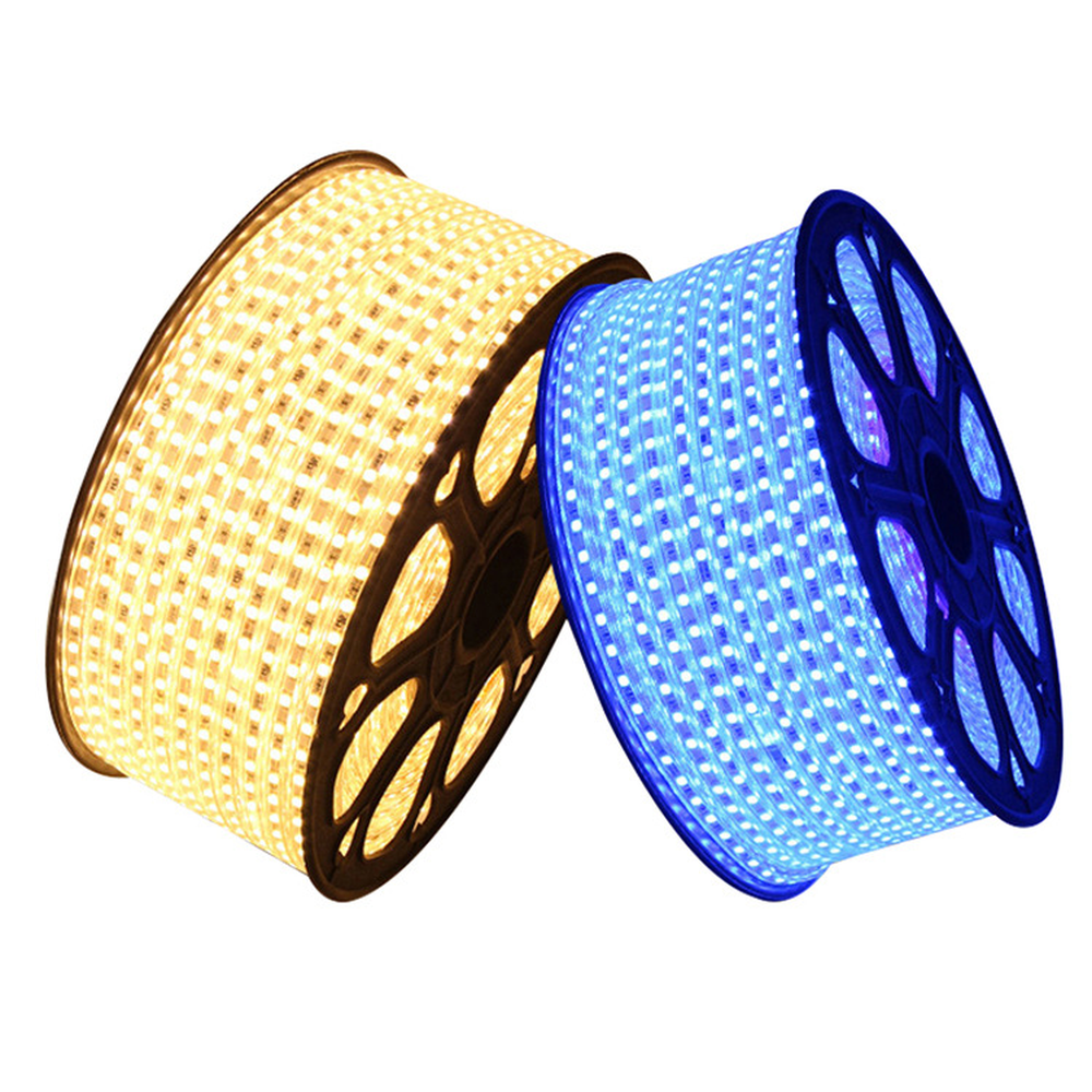 220-240V SMD 2835 Flexible Led Strip Light 1 To 25M With EU Power Plug Cool Warm White Blue 120leds/m Waterproof Led Tape Ribbon