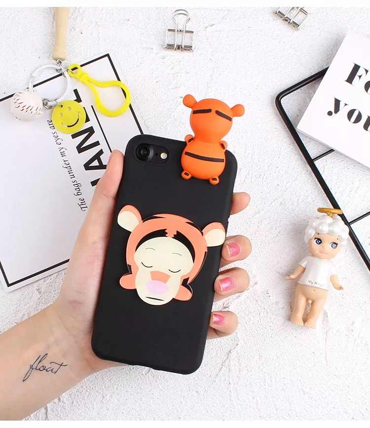 49caa4c6e5 Mobile Phone Cases For Oppo F9 3D Dolls Mickey Minnie Pooh Daisy Soft TPU  Case For Oppo A3s Back Covers For Oppo F5 A73 Capas