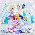 Amor Ao Vivo! luz do sol Aqours Dia Chika Hanamaru Kanan Mari Ohara Riko Sakurauchi Rubi Yoshiko... Você Ama aquário cosplay