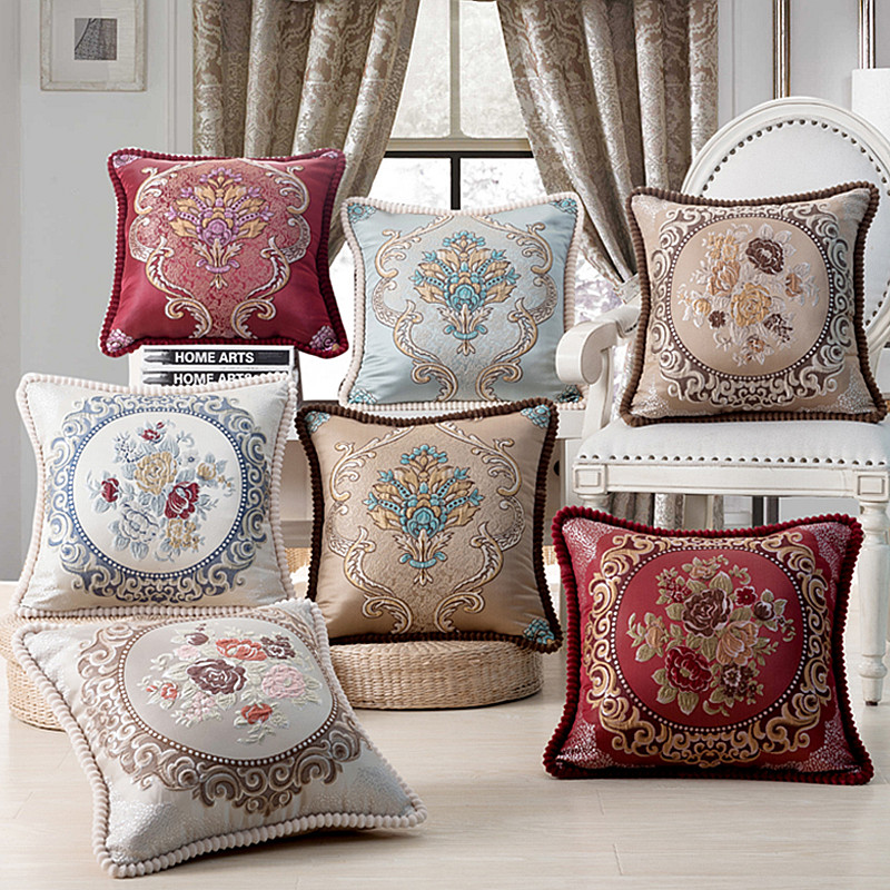 Aliexpress.Com : Buy Luxurious Embroidery Velour Home Decor