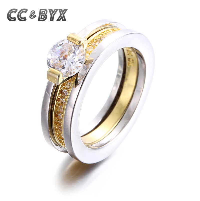White gold filled engagement rings for women anel feminino Vintage style fashion rings