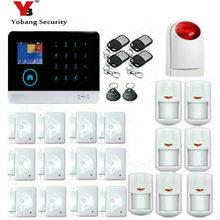 YobangSecurity 3G WCDMA WIFI IOS Android APP Control Home Security Alarm System Smoke Fire Alarm PIR Motion Sensor Russian Dutch
