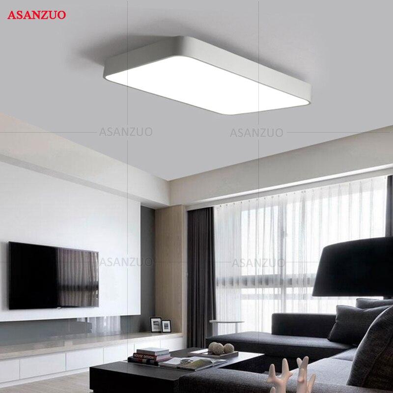 luminaria de teto moderna com led estrutura 04
