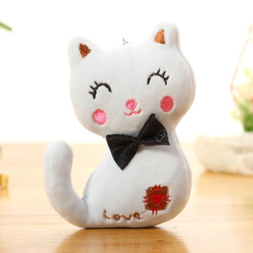 Stuffed & Plush Animals,9 cm Cat Plush,Stuffed,Kid gift TOY,baby Plush white,pink brown Cartoon children Cotton pendant toy cute