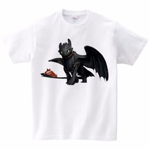 Pocket Toothless T-shirt Cute Tops How To Train Your Dragon Cartoon TShirt Summer Send Children Birthday Gift Unisex
