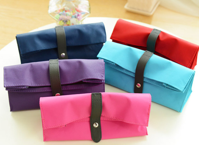 Candy Color Large Capacity Canvas Bag Holder Wrap Roll Up Stationery Pen Brushes Makeup Pencil Case Pouch Retro Romantic Pen Bag high quality canvas large capacity solid color school multifunctional boys pencil case pen holder bag stationery penalty 04921