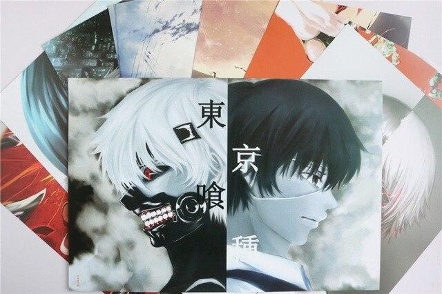 Hot anime tokyo ghoul cosplay kaneki ken toka a3 size 8pcs posters print set