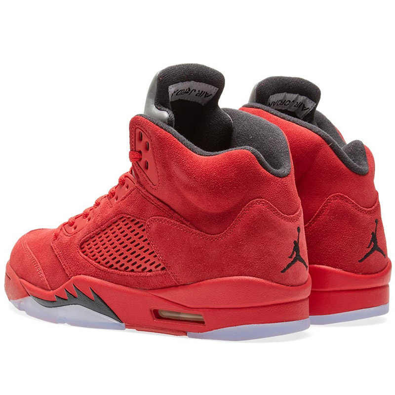 d119ae48340865 ... Nike Air Jordan 5 red Suede AJ5 Men s Breathable Basketball Shoes  Sports Sneakers New Arrival Official ...