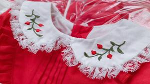 Image 3 - 1 6Y BaBy Girls Red Vintage Spanish Pompom Gown Dress Lace Lolita Dress Princess Dress for Girls Christmas Birthday Party Dress