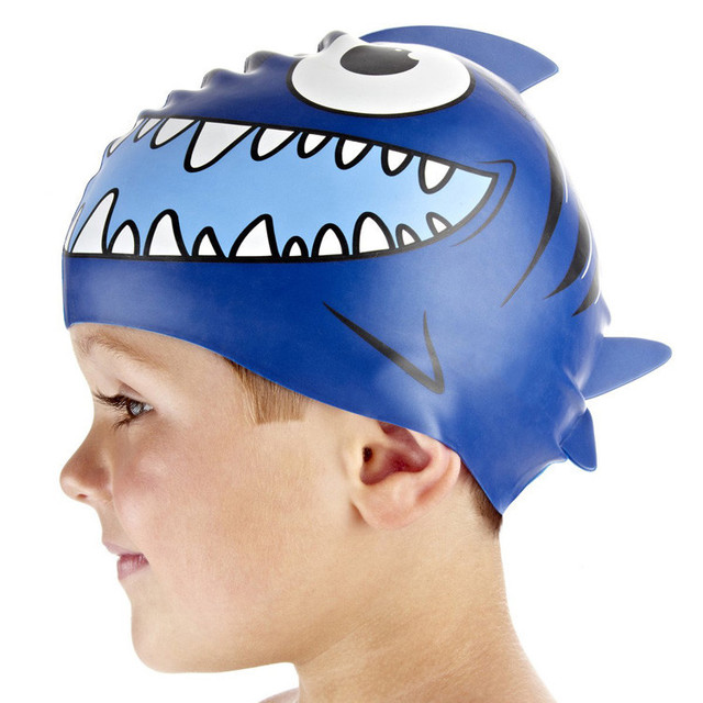 694694273f2 design your own swim cap novelty swimming cap silicone kids fish swim caps