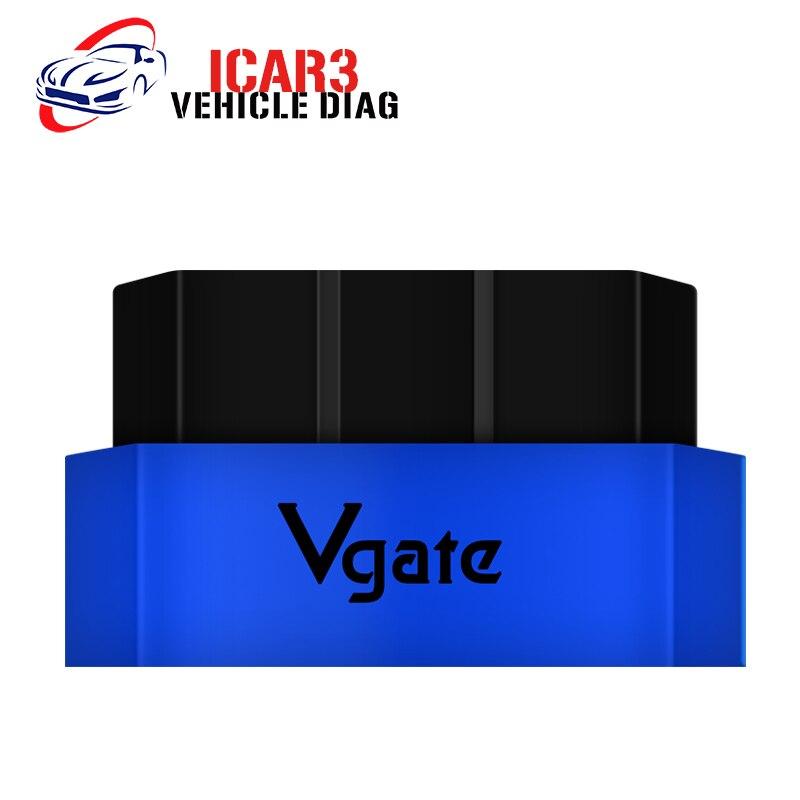 Prix pour Dernières ELM327 Vgate iCar3 Bluetooth/WIFI Version OBD2 OBD Icar 3 Interface De Diagnostic Livraison Gratuite