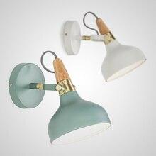 цена на Modern denmar nordic minimalist wall lamp creative lron LED macaron lamp for living room bedroom bedside lamp indoor lights e27
