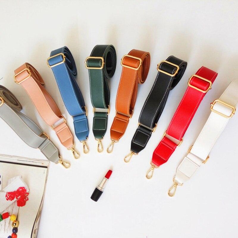 130cm Shoulder Bag Strap PU Leather Belt Adjustable Wide Strap Bag Accessories Parts For Women Crossbody Handbag Replacement