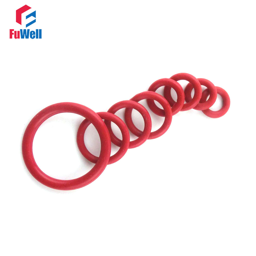 50pcs Red Silicon Rubber O-ring Seals 3mm Thickness 43/44/45/46/47/48/49/50/52/55/58mm OD Heat Resistance O Ring Sealing Gasket все цены