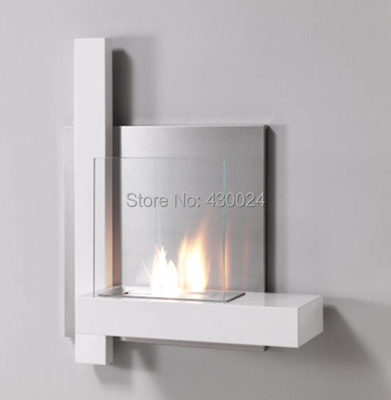 bio ethanol fireplace vog81s wall mounted with stainless steel bio