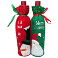 Christmas Wine Bottle Set Santa Claus Button Decor Bottle Cover Cap Clothes Kitchen Decoration for New Year Christmas Decoration