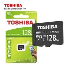 Cartão de memória toshiba m203, original, UHS I 16gb 32gb microsdhc 64gb 128gb microsdxc cartão de classe u1 fullhd tf